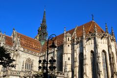 De Kathedraal van St Elisabeth in Kosice stock foto's