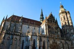 De Kathedraal van St Elisabeth in Kosice stock afbeeldingen