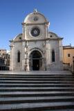 Kathedraal van St. James (SV Jakov) in Sibenik, Kroatië stock foto's