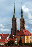 De Kathedraal van St John Doopsgezind - Wroclaw - Polen Royalty-vrije Stock Fotografie