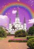 De Kathedraal van St.Louis, het de kunstwerk van New Orleans Stock Foto's