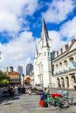 De kathedraal van St.Louis in het Franse Kwart in New Orleans Royalty-vrije Stock Fotografie