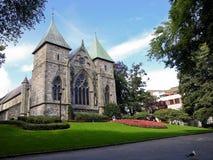 De Kathedraal van Stavanger Royalty-vrije Stock Foto's