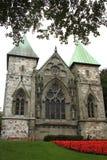 De Kathedraal van Stavanger Stock Afbeelding