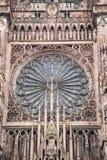 De Kathedraal van Straatsburg, de Elzas, Frankrijk stock foto's