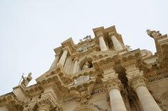 De Kathedraal van Syracuse Stock Foto