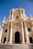 De kathedraal van Syracuse, Sicilië Stock Afbeeldingen