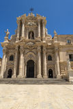 De kathedraal van Syracuse, Sicilië, Italië Stock Foto