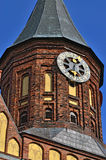 De Kathedraal van torenkoenigsberg Symbool van Kaliningrad, Rusland stock foto