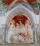 De kathedraal van Trani: fresko in de crypt van St. Mary   Stock Fotografie
