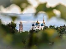 De Kathedraal van de transfiguratie Bolkhovstad stock foto's