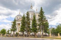 De Kathedraal van de transfiguratie Torzhokstad royalty-vrije stock fotografie