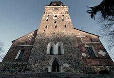 De kathedraal van Turku in Finland Stock Fotografie