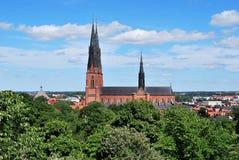 De Kathedraal van Uppsala stock foto's
