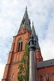 De Kathedraal van Uppsala, Zweden Stock Fotografie