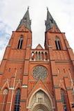 De Kathedraal van Uppsala, Zweden Royalty-vrije Stock Foto's