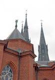 De Kathedraal van Uppsala, Zweden Royalty-vrije Stock Afbeelding
