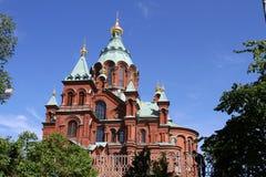 De Kathedraal van Uspenski, Helsinki/Finland Stock Afbeeldingen
