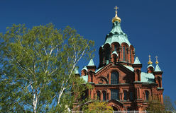 De kathedraal van Uspenskin, Helsinki Stock Fotografie
