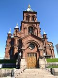 De Kathedraal van Uspensky in Helsinki Stock Foto's