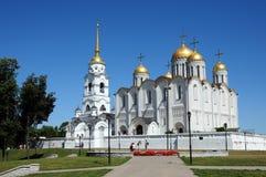 De kathedraal van Uspensky in Vladimir Stock Foto's