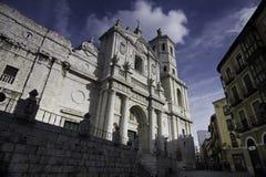 De Kathedraal van Valladolid, 22 December 2012, Valladolid, Spanje Royalty-vrije Stock Afbeeldingen