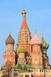 De Kathedraal van Vasily Blazhenny op Rood vierkant in Moskou royalty-vrije stock fotografie