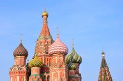 De Kathedraal van Vasily Blazhenny op Rood vierkant in Moskou royalty-vrije stock afbeeldingen