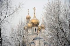 De Kathedraal van de Verlossertransfiguratie, Rusland, Abakan Stock Afbeeldingen