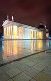 De kathedraal van Vilnius bij nacht. Litouwen, Europa. Royalty-vrije Stock Foto's