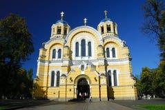 De Kathedraal van Vlodimersky in Kiev Stock Foto's