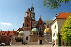 De Kathedraal van Wawel Stock Afbeelding