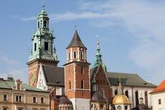De kathedraal van Wawel in Krakau Stock Afbeelding