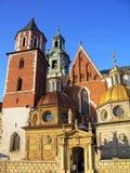De Kathedraal van Wawel in Krakau, Polen Royalty-vrije Stock Foto