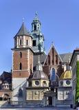 De Kathedraal van Wawel in Krakau, Polen stock afbeelding