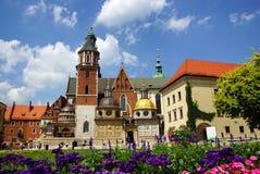 De Kathedraal van Wawel, Krakau, Polen Stock Afbeeldingen