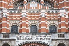 De Kathedraal van Westminster Stock Foto