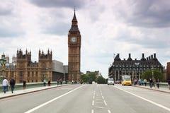 De Kathedraal van Westminster en de klokketoren van de Big Ben Stock Foto's