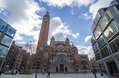 De kathedraal van Westminster Stock Afbeeldingen