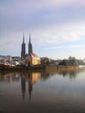 De Kathedraal van Wroclaw, Polen Stock Foto