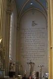 De kathedraal van Zagreb binnen stock foto