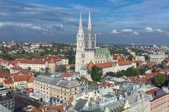 De Kathedraal van Zagreb, Kroatië royalty-vrije stock fotografie