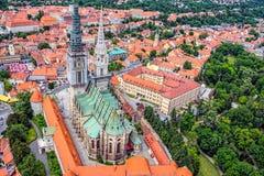 De Kathedraal van Zagreb Royalty-vrije Stock Foto's
