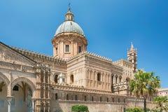 De Kathedraal & x28 van Palermo; Metropolitaanse Kathedraal van de Veronderstelling van Maagdelijke Mary& x29; in Palermo, Sicili Stock Foto
