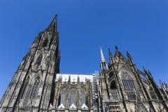 De Kathedraal Zijaanzicht van Keulen, Duitsland Stock Afbeelding