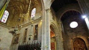 De Kathedraalapsis van Braga stock footage