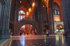 De Kathedraalbinnenland van Liverpool, het UK Stock Foto