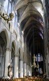 De Kathedraalbinnenland van Reims Stock Afbeeldingen