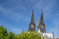 De Kathedraaldetail van Keulen, Duitsland Stock Foto