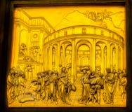 De Kathedraalfl van Joseph Ghiberti Paradise Bronze Door Bapistry Duomo royalty-vrije stock foto's